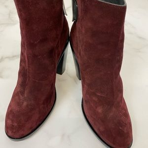 Rag and Bone Burgundy Suede Bootie Size 41